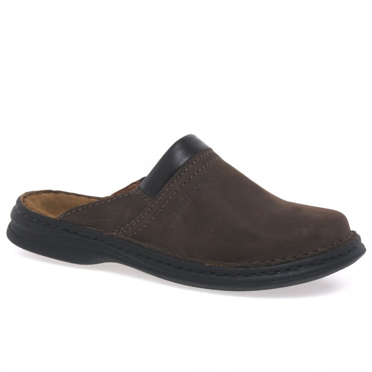 Josef Seibel Max Men's Brown Leather Mules