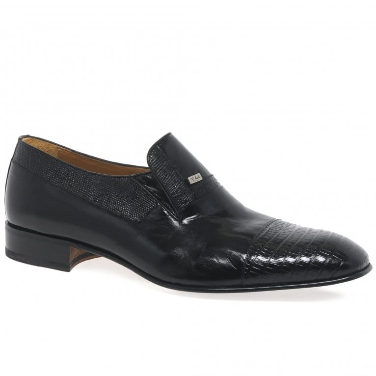 Paco Milan Elche Leather Formal Slip On Mens Shoes