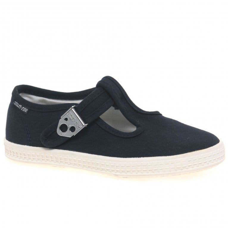 Startrite Wells Boys Canvas T-bar Shoes
