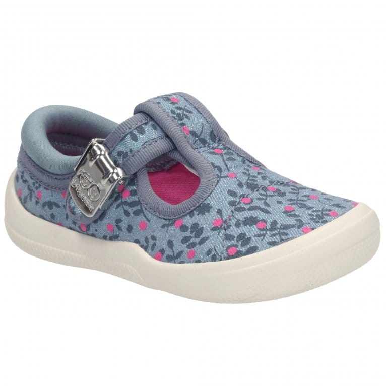 Clarks Briley Bow Girls First Canvas Shoes