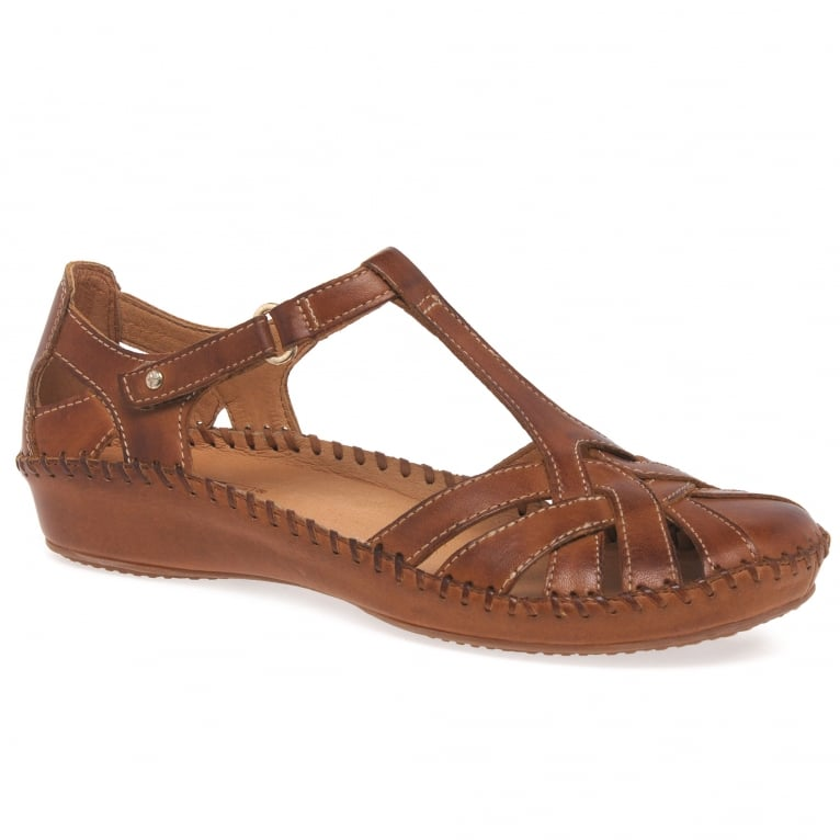 Pikolinos Vallarta Womens Woven Leather Sandals