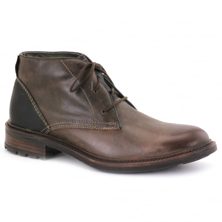 Josef Seibel Oscar 11 Mens Brown Leather Chukka Boots