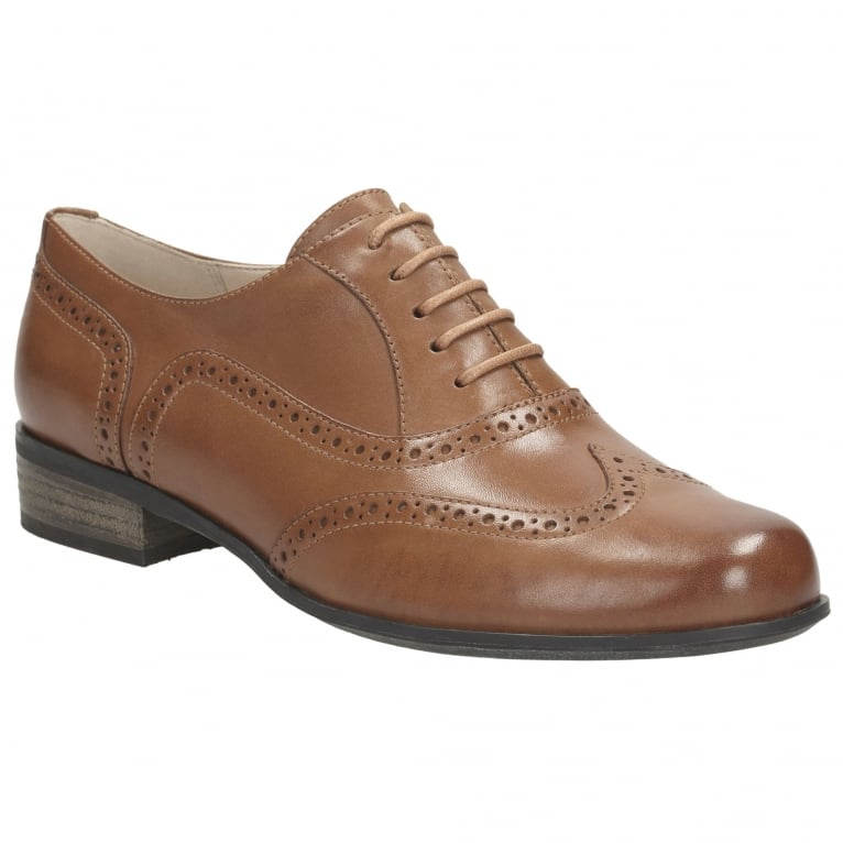 Clarks Hamble Oak Womens Narrow Leather Lace Up Brogues