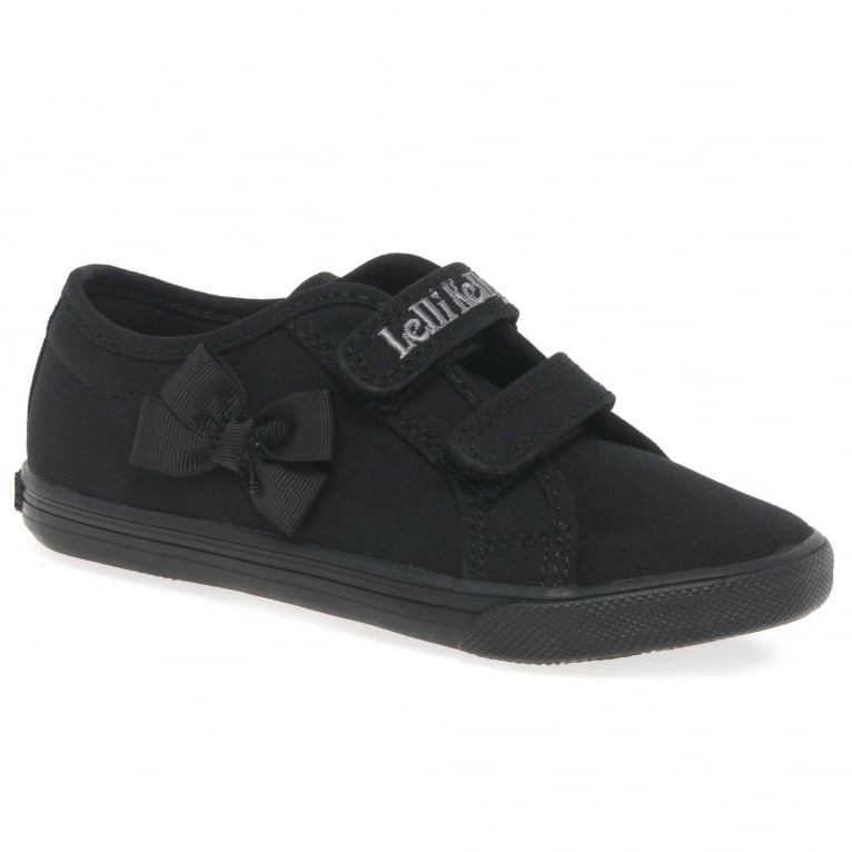 Lelli Kelly Lily Girls Infant Canvas Rip Tape Plimsoll Shoes