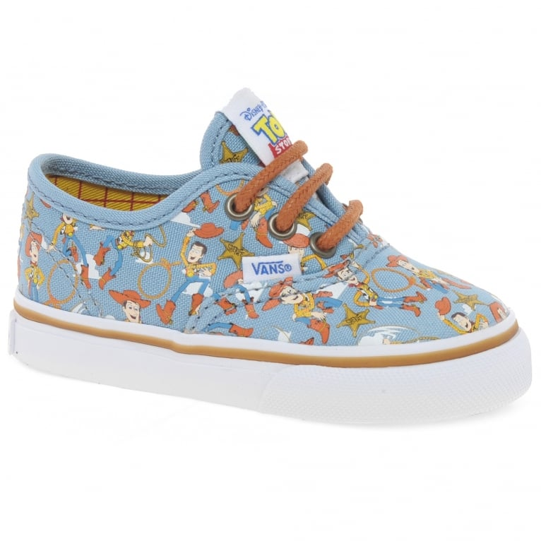 nombre de la marca Contorno preámbulo  Vans Toy Story Woody Authentic Toddler Trainers | Charles Clinkard