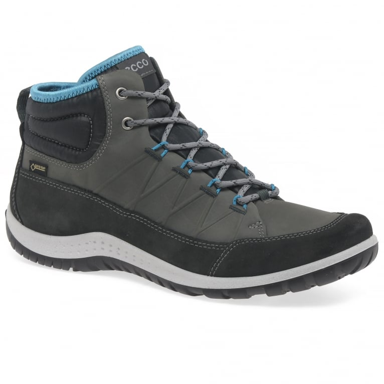 Ecco Aspina Womens Waterproof Leather Lace Up Walking Boots
