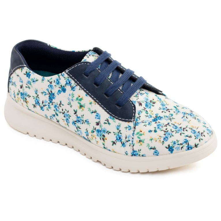Padders Reflower Womens Floral Lace Up Shoes