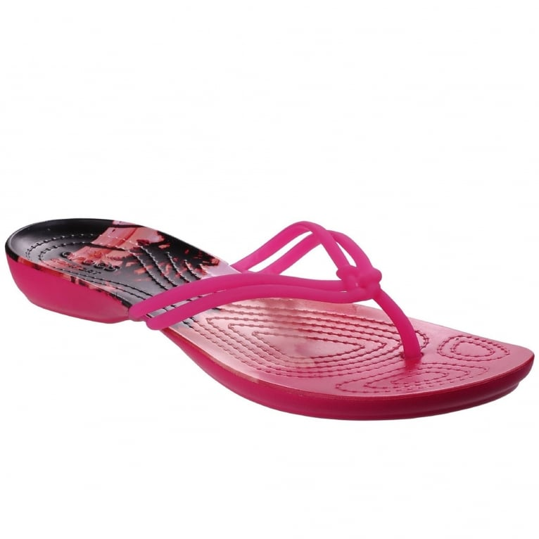 Crocs Isabella Graphic Flip Womens Sandals