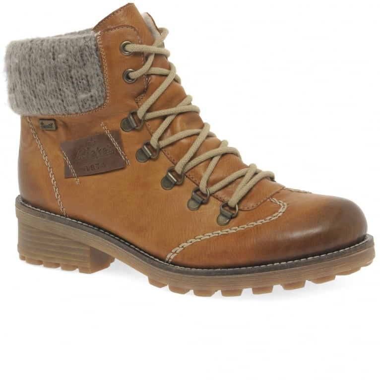 Rieker Wool Ladies Water-Resistant Lace Up Ankle Boots