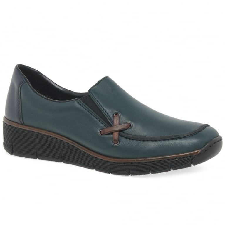 Rieker Gala Womens Casual Wedge Heel Shoes