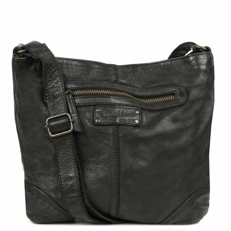 Gianni Conti Ravenna Leather Messenger Shoulder Bag