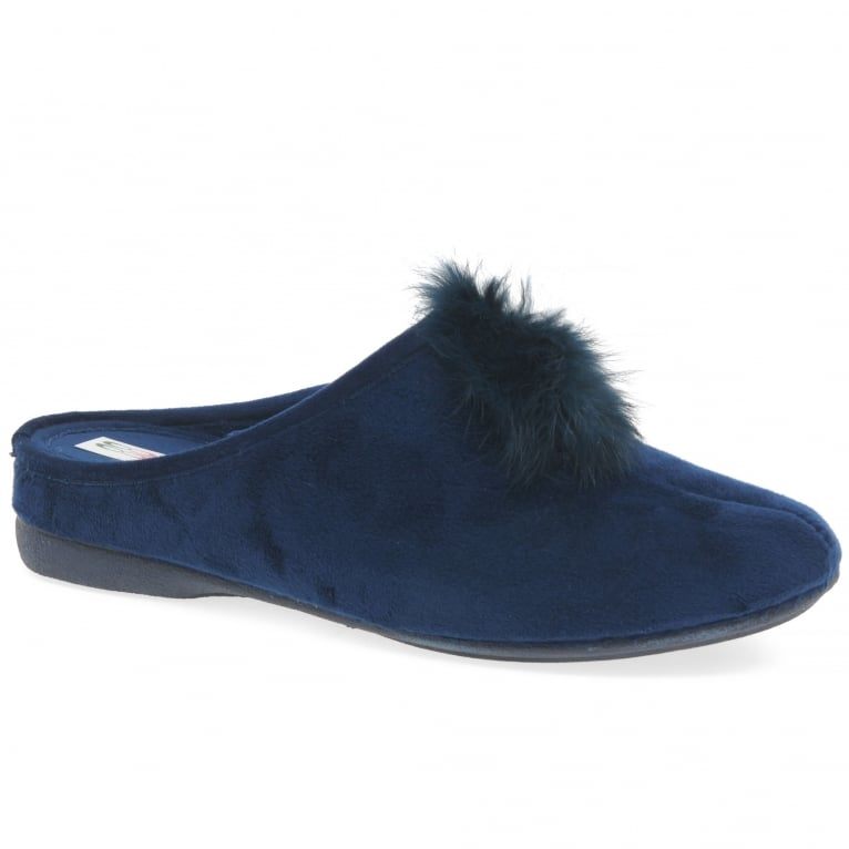 Cosdam Pom Pom Womens Slip On Mule Slippers