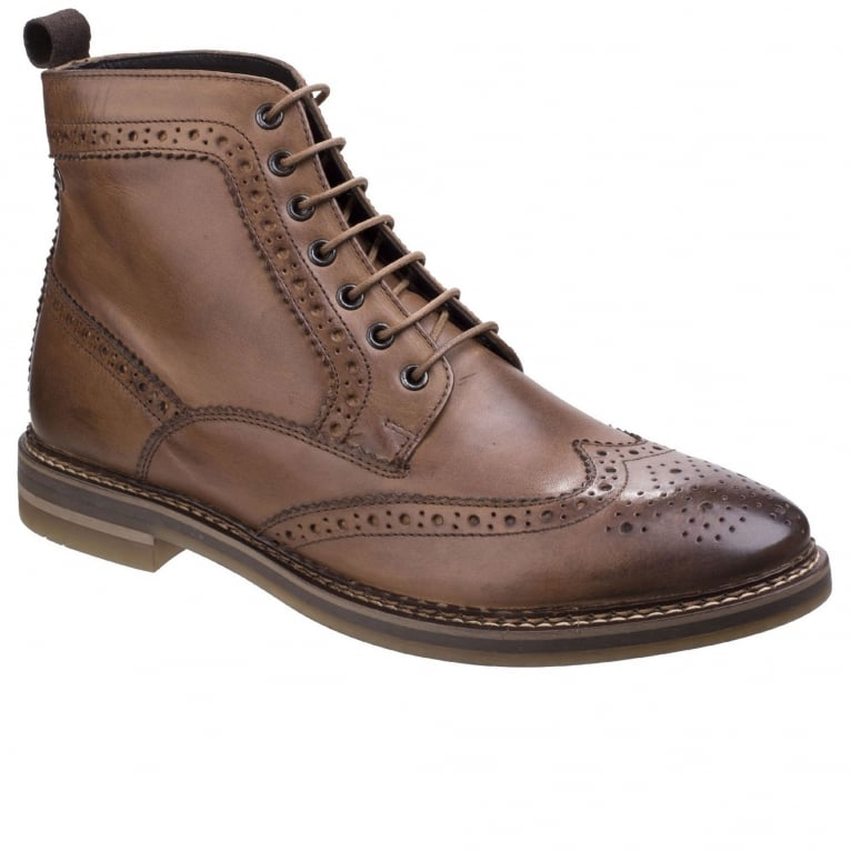 Base London Hurst Burnished Mens Brogue Boots