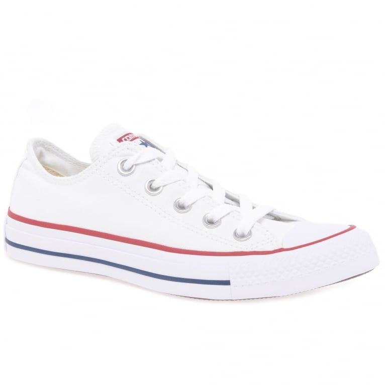 Converse All Star Oxford White Canvas Lo-Top Sneakers