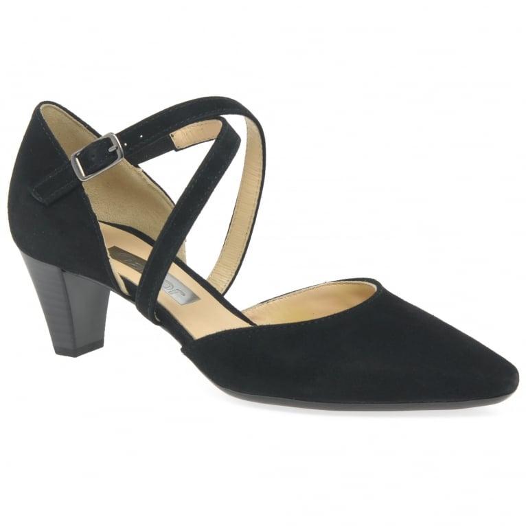 Gabor Callow Womens Modern Cross Strap Court Shoes