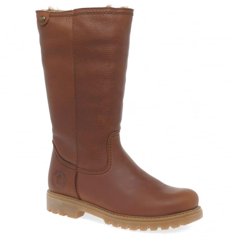 Panama Jack Bambina B11 Womens Waterproof Leather Warm Lined Long Boots
