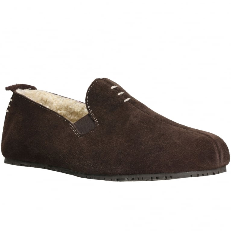 Clarks Kite Falcon Mens Suede Slippers