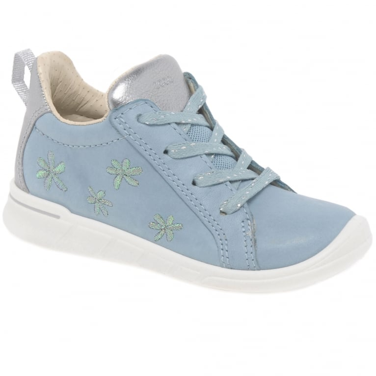 Ecco Daisy Girls First Floral Leather Boots
