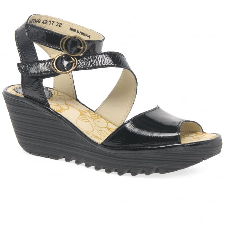 Fly London Yisk Womens Wedge Heel Sandals