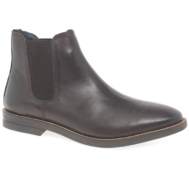 Silver Street Sloane Mens Formal Brown Chelsea Boots