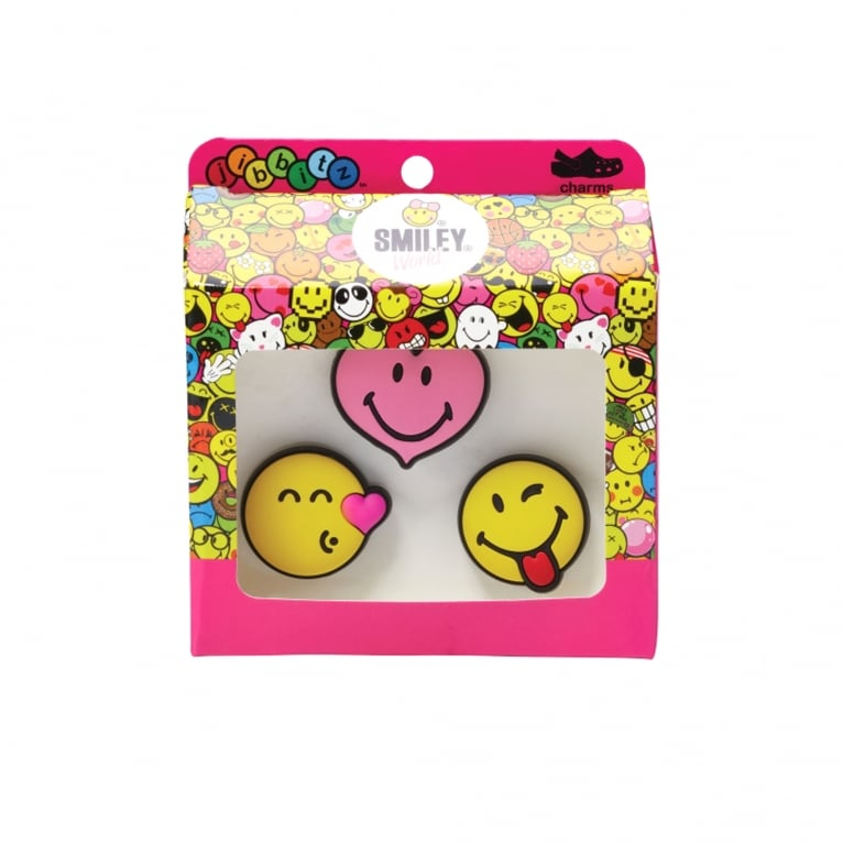Crocs Smiley Love Jibbitz - 3 Pack