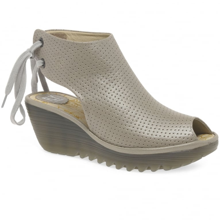 Fly London Ypul Womens Wedge Heel Sandals