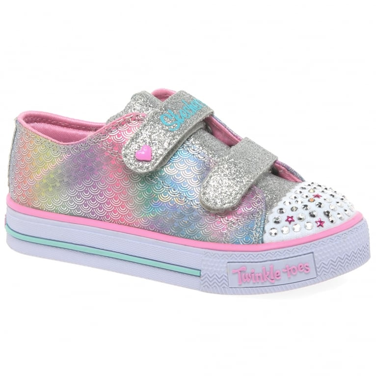Skechers Shuffles Mermaid Girls Toddler Canvas Shoes