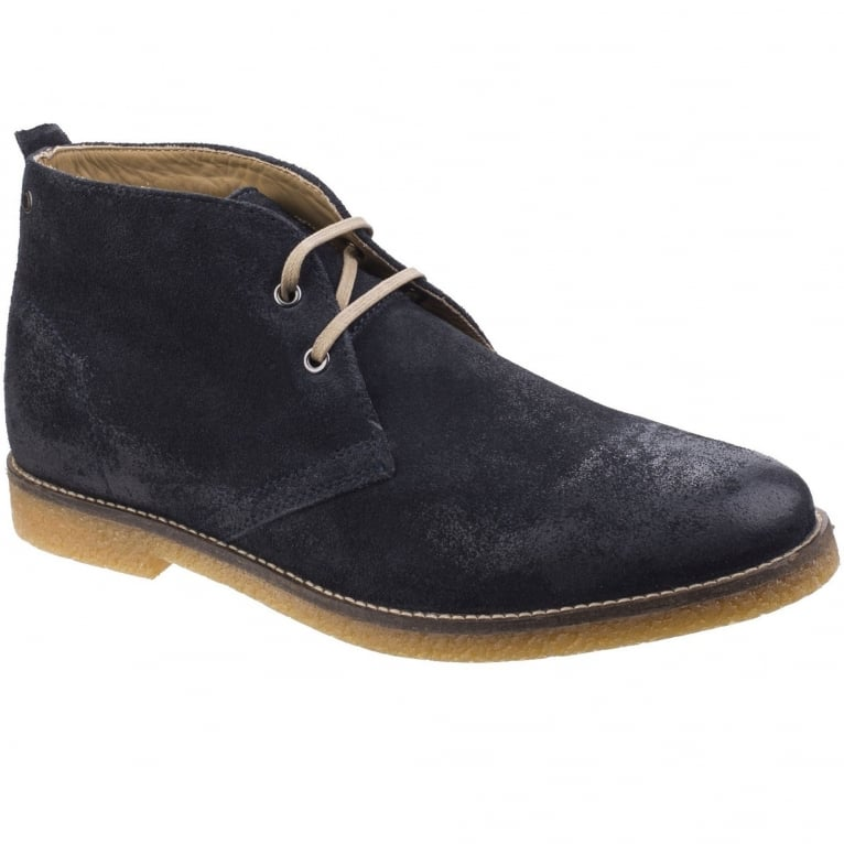 Base London Perry Burnished Leather Mens Desert Boots