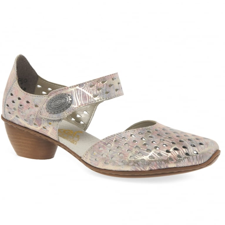 Rieker Illinois Womens Cut Out Mary Jane Shoes