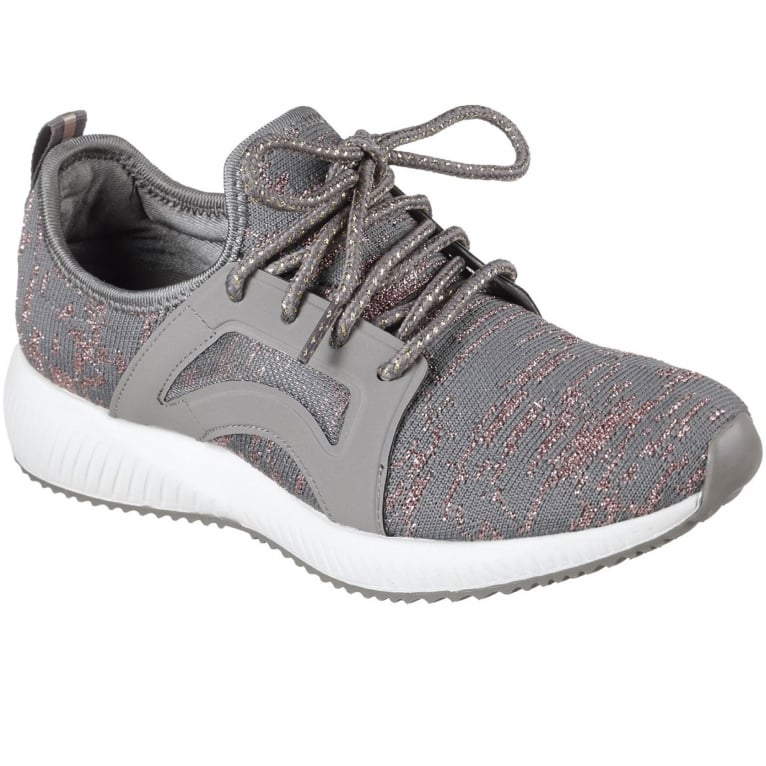Skechers Bobs Sport Squad Glossy Finish Womens Trainers
