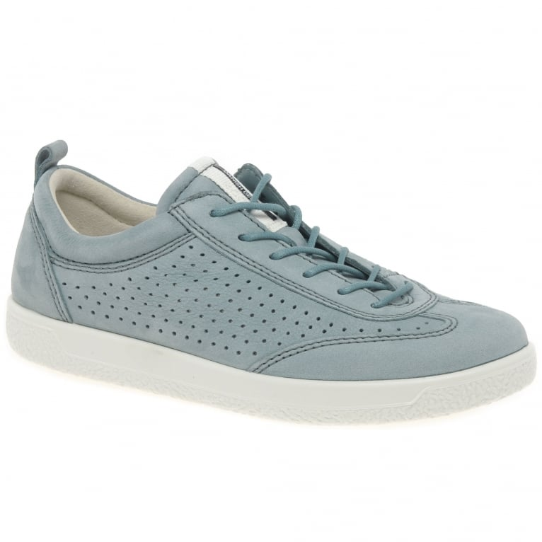 Ecco Soft 1 Womens Nubuck Lace Up Shoes