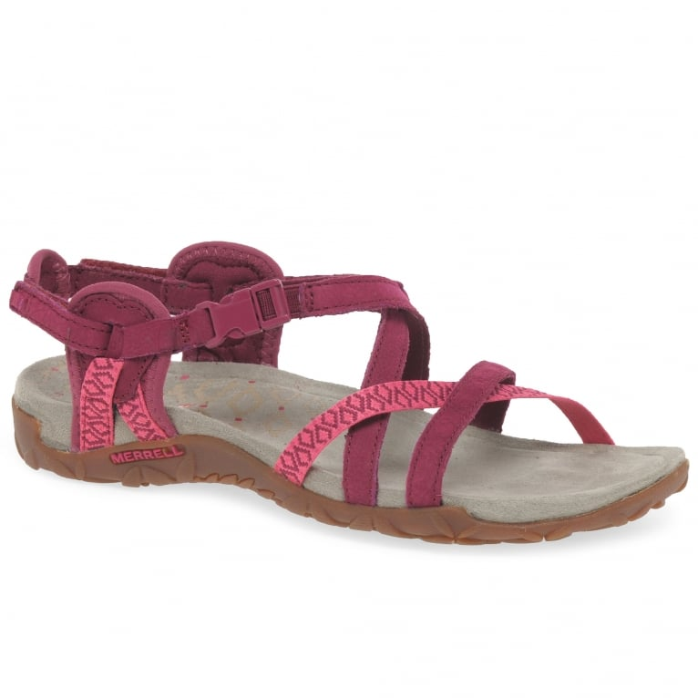 Merrell Terran Lattice II Womens Fuschia Sandals
