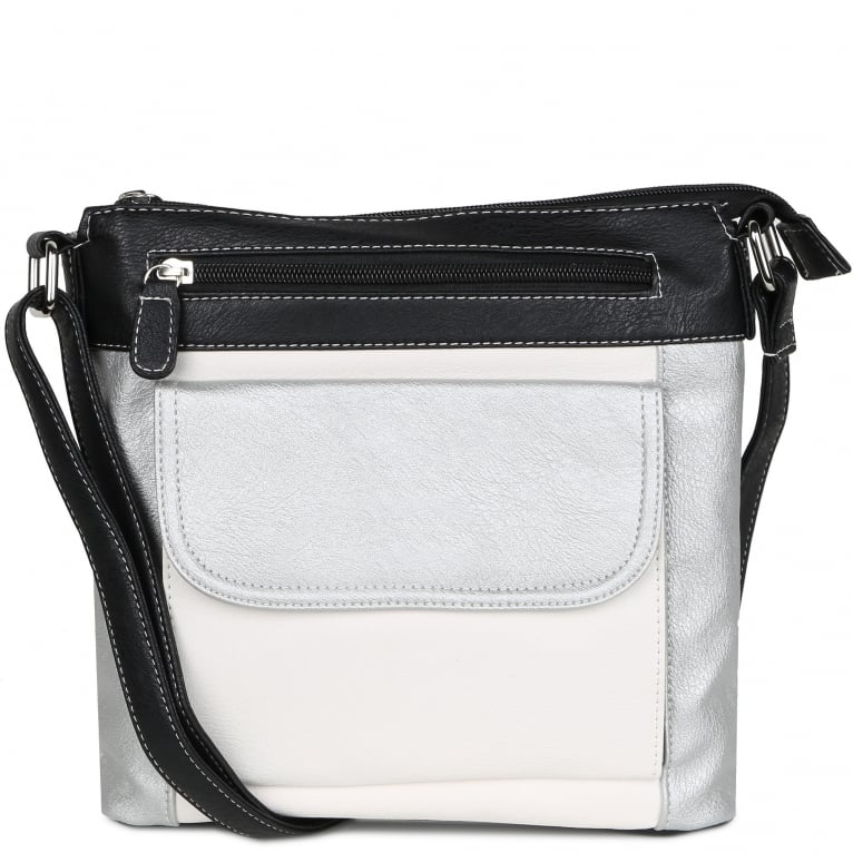 Envy Olivia Womens Multi Panel Messenger Bag