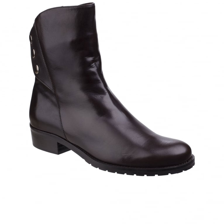 Riva Buttons Womens Ankle Boots