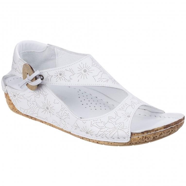 Riva Arlo Leather Womens Low Wedge Sandal