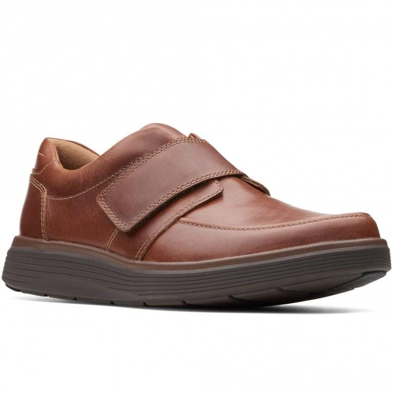 Clarks Un Abode Strap Mens Casual Wide Fitting Leather Shoes