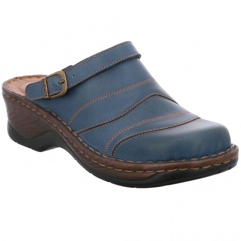 Josef Seibel Catalonia 70 Womens Leather Clog Mules