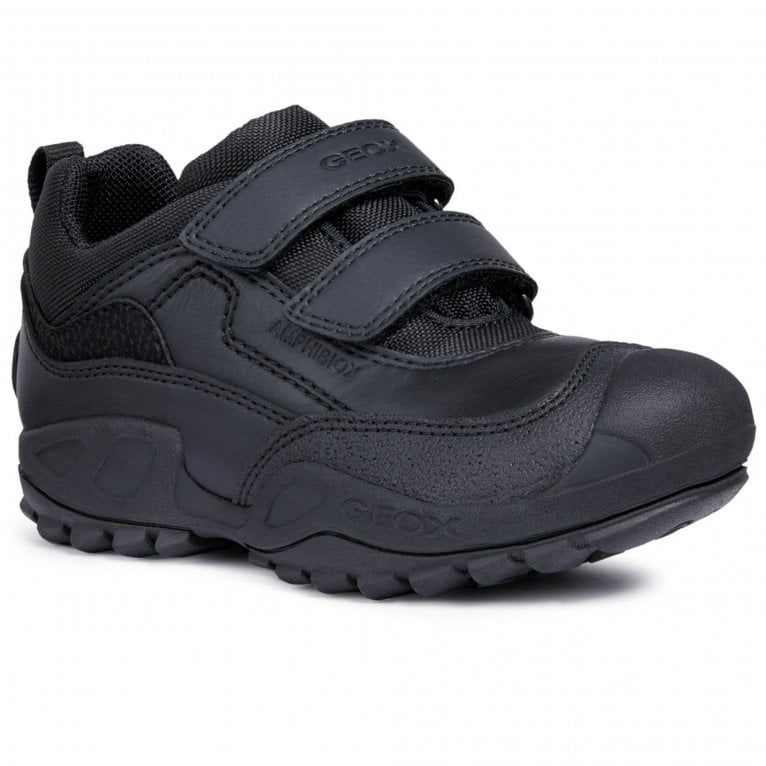 Geox New Savage Boys Junior Waterproof Rip Tape School Shoes