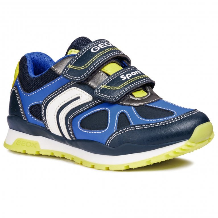 Geox Pavel Boys Junior Rip Tape Multi Panelled Trainers