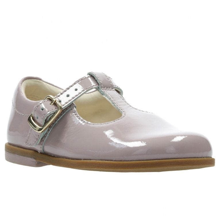 Clarks Drew Shine Patent T Bar Girls First Shoes