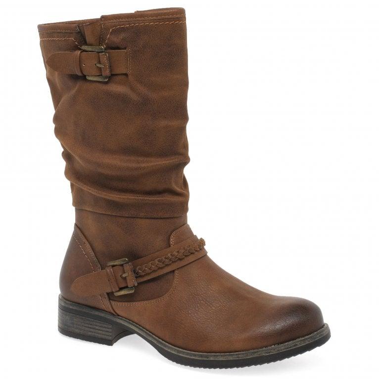 Rieker Estella Womens Calf Length Slouch Boots