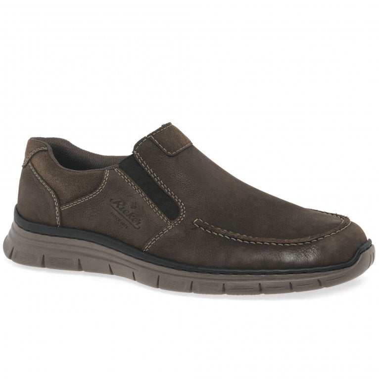 Rieker Event Mens Nubuck Leather Casual Slip On Shoes
