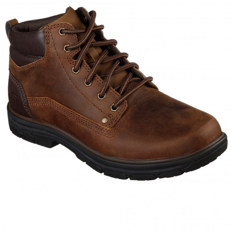 Skechers Segment Garnet Mens Casual Lace Up Leather Boots
