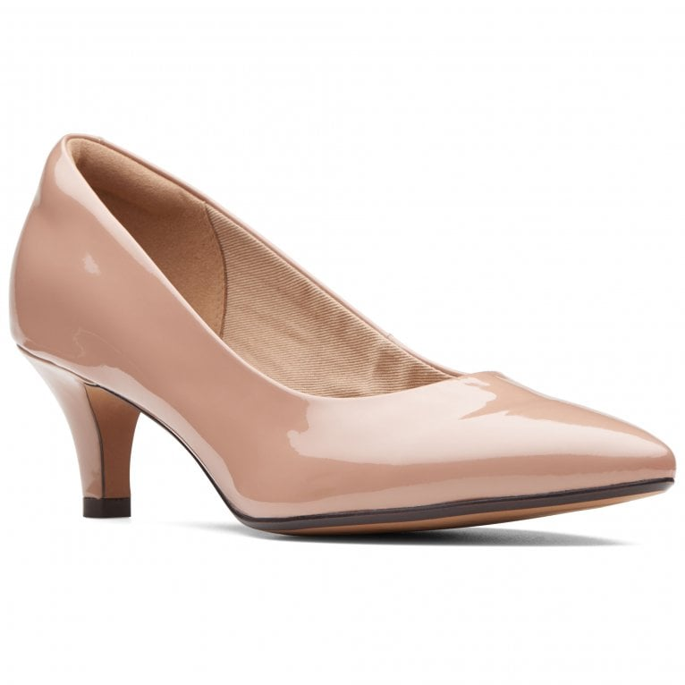 Clarks Linvale Jerica Womens Patent Leather Pointed Court Shoes