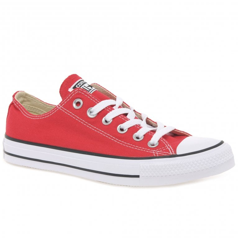 Converse Allstar Red Oxford Canvas Shoes