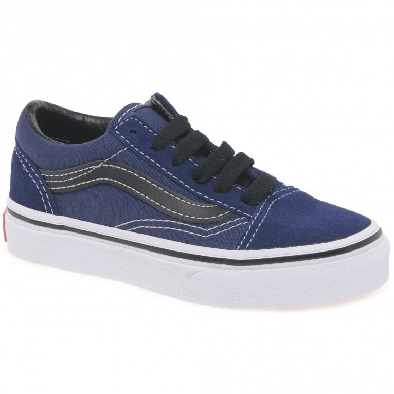 Vans Old Skool Kids Youth Lace Up Canvas Trainers