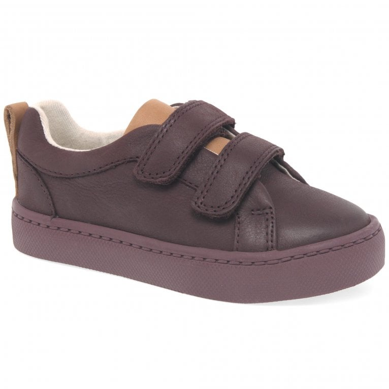 Clarks City Oasis Boys Infant Rip Tape Leather Trainer Shoes