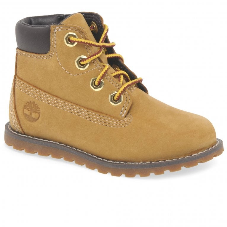 Timberland Pokey Pine Zip Boys Nubuck Toddler Ankle Boots