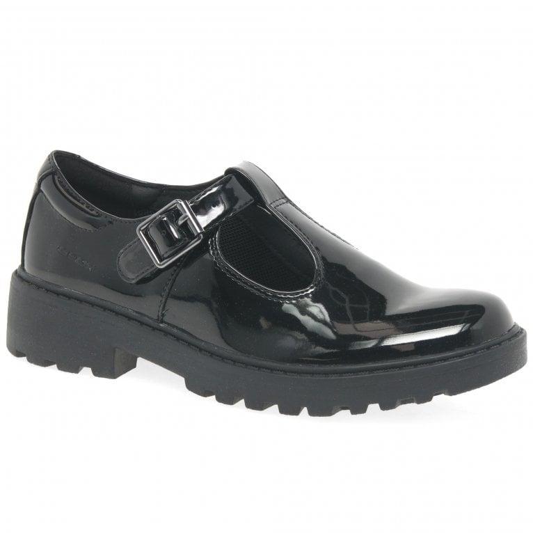 Geox Junior Casey T-Bar Senior Girls School Shoes