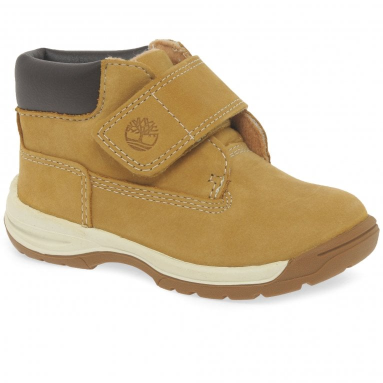 Timberland Timber Tykes T Boys Rip Tape Wheat Nubuck Ankle Boots